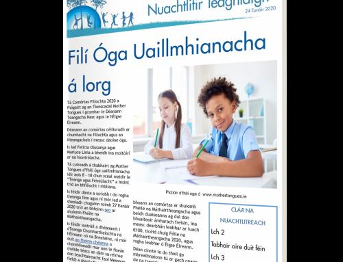 Nuachtlitir Teaghlaigh 24 Eanáir 2020