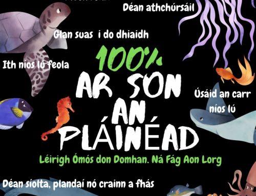 100% ar son an Pláinéad